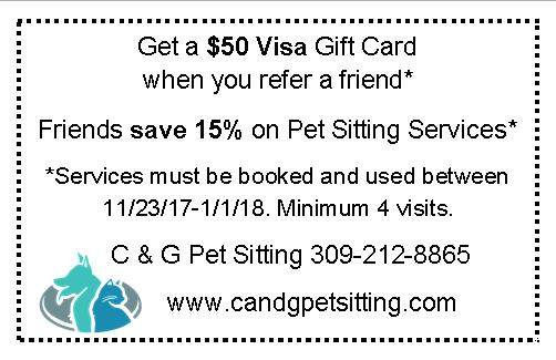 referral card pet sitting